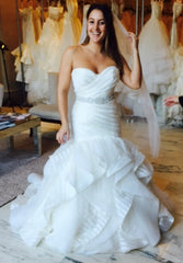 Hayley Paige 'Keaton' size 10 new wedding dress front view on bride