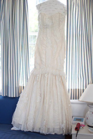 Elizabeth Fillmore Mermaid Textured Wedding Dress