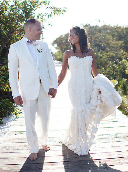 Elizabeth Fillmore Mermaid Textured Wedding Dress - Elizabeth Fillmore - Nearly Newlywed Bridal Boutique - 1