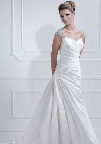 Ellis Bridal Cap Sleeve Wedding Dress