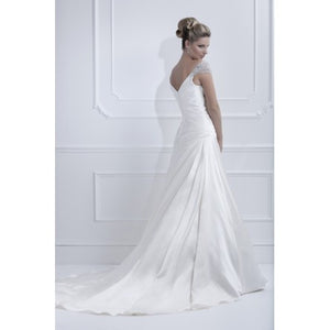Ellis Bridal Cap Sleeve Wedding Dress - Ellis Bridal - Nearly Newlywed Bridal Boutique - 2