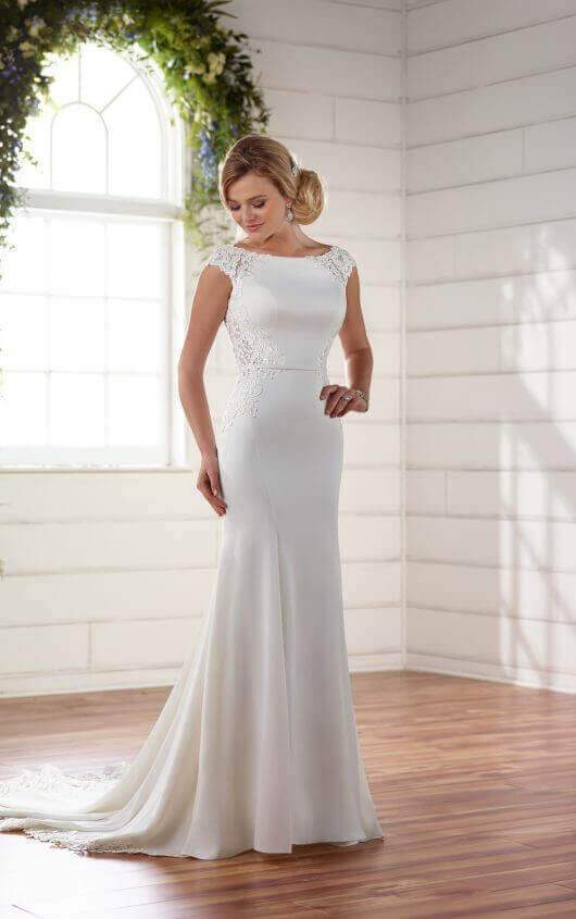 Essence of Australia '2238' size 6 new wedding dress front view on  model
