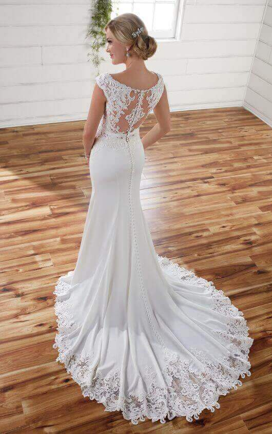 Essence of Australia '2238' size 6 new wedding dress back view on model
