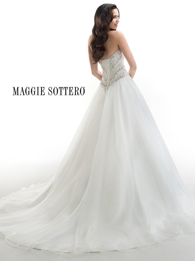 Maggie Sottero 'Corbin' size 8 new wedding dress back view on model