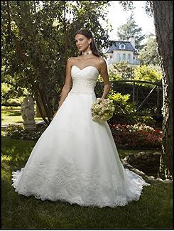 Casablanca 'Strapless' size 6 new wedding dress front view on model