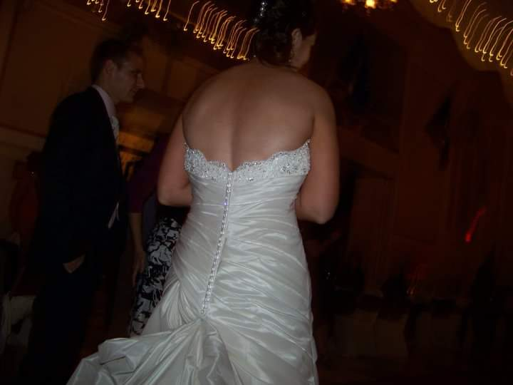 Maggie Sottero 'Imperial' size 8 used wedding dress back view on bride