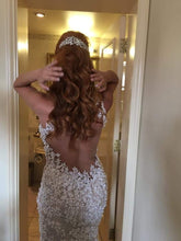 Load image into Gallery viewer, Bridal Reflections 'Two In One' size 6 used wedding dress back view on bride