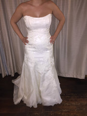 Marisa '737' size 12 sample wedding dress front view on bride