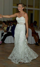 Load image into Gallery viewer, Maggie Sotttero 'Brittania' size 6 used wedding dress front view on bride