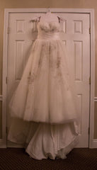 David's Bridal ' Strapless Ball Gown' - David's Bridal - Nearly Newlywed Bridal Boutique - 4