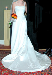 Pronovias 'Hechizo' size 0 used wedding dress front view on bride