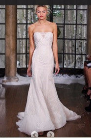 Ines Di Santo 'Zabize' size 4 used wedding dress front view on model