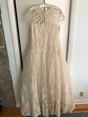 Marchesa '2014 Look # 25' size 14 used wedding dress back view on hanger