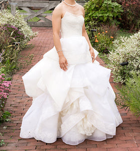Vera Wang 'Katherine' with Lace Detail and Extended Train - Vera Wang - Nearly Newlywed Bridal Boutique - 3