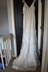 Maggie Sottero 'Cynthia' size 14 new wedding dress back view on hanger