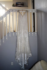 Maggie Sottero 'Cynthia' size 14 new wedding dress front view on hanger