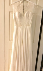 Sarah Seven 'Vienna' size 6 new wedding dress front view on hanger