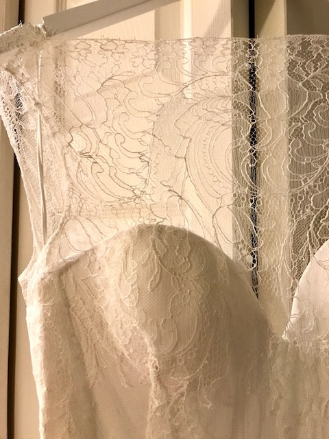 Sarah Seven 'Vienna' size 6 new wedding dress view of lace