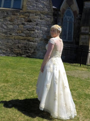 House of Mooshki 'Bespoke Alice' size 12 new wedding dress back view on bride