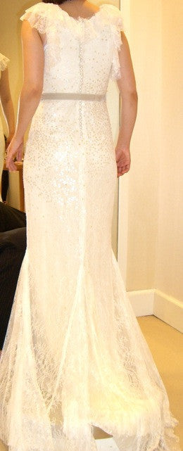 Sleeveless Vera Wang Embellished Wedding Dress - Vera Wang - Nearly Newlywed Bridal Boutique - 2