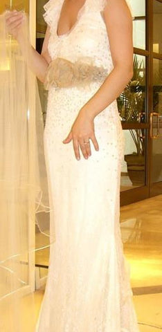 Sleeveless Vera Wang Embellished Wedding Dress