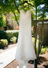 Ulla Maija Aimee Lace Trumpet Wedding Dress - Ulla Maija - Nearly Newlywed Bridal Boutique - 2
