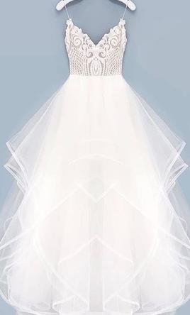 Hayley Paige 'Pepper' size 14 used wedding dress front view on hanger