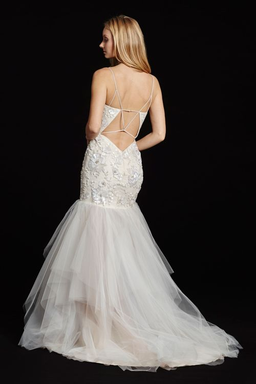 Hayley Paige 'Honor' size 6 new wedding dress back view on model