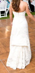 Demetrios '120' size 2 used wedding dress back view on bride