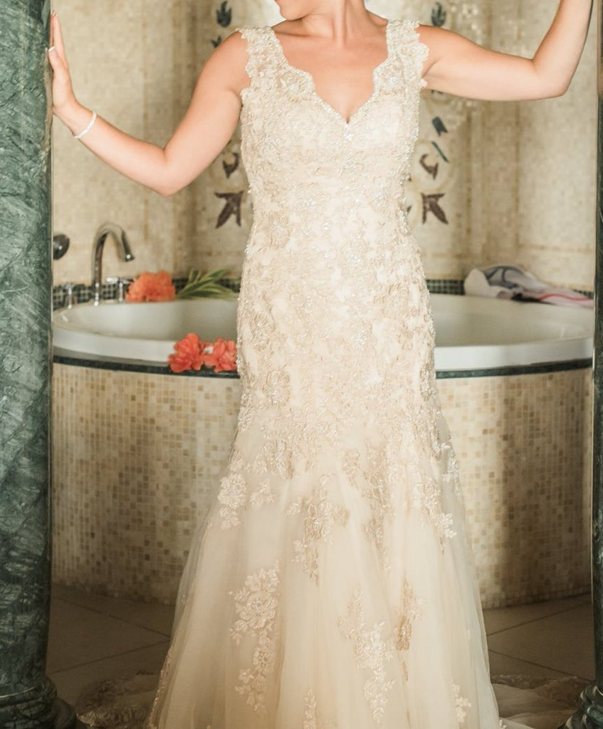 Preowned Wedding Gowns: Stella York 'Backless' Size 10 Used Wedding Dress