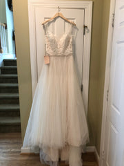 BHLDN 'Cassia' size 10 new wedding dress front view on hanger
