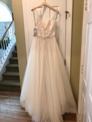 BHLDN 'Cassia' size 10 new wedding dress back view on hanger