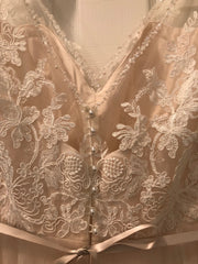 BHLDN 'Cassia' size 10 new wedding dress back view close up on hanger