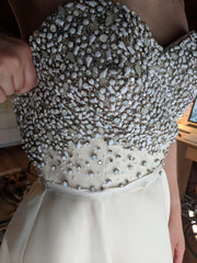 Naeem Khan 'Venice' size 10 new wedding dress front view of bodice