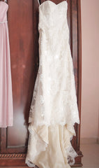 Stella York '5939' size 8 used wedding dress front view on hanger