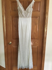 BHLDN 'Indiana' size 4 new wedding dress front view on hanger