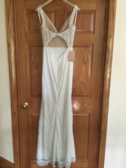 BHLDN 'Indiana' size 4 new wedding dress back view on hanger