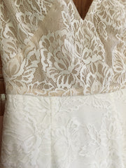 BHLDN 'Indiana' size 4 new wedding dress front view close up