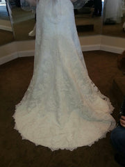 Casablanca '2072' size 18 used wedding dress back view on bride