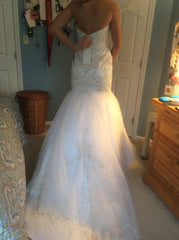 Casablanca '2197' size 8 new wedding dress back view on bride