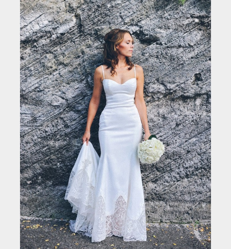 Galia Lahav 'Marilyn' size 6 used wedding dress front view on bride