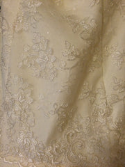 Hayley Paige 'Jazmine' size 4 new wedding dress close up view of material