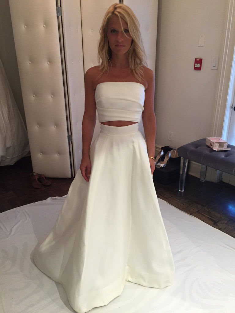 Monique Lhuillier \'Cody Bandeau and Cody Skirt\' size 2 used wedding ...