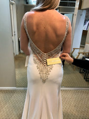 Allure 'Romance' size 10 new wedding dress back view on bride