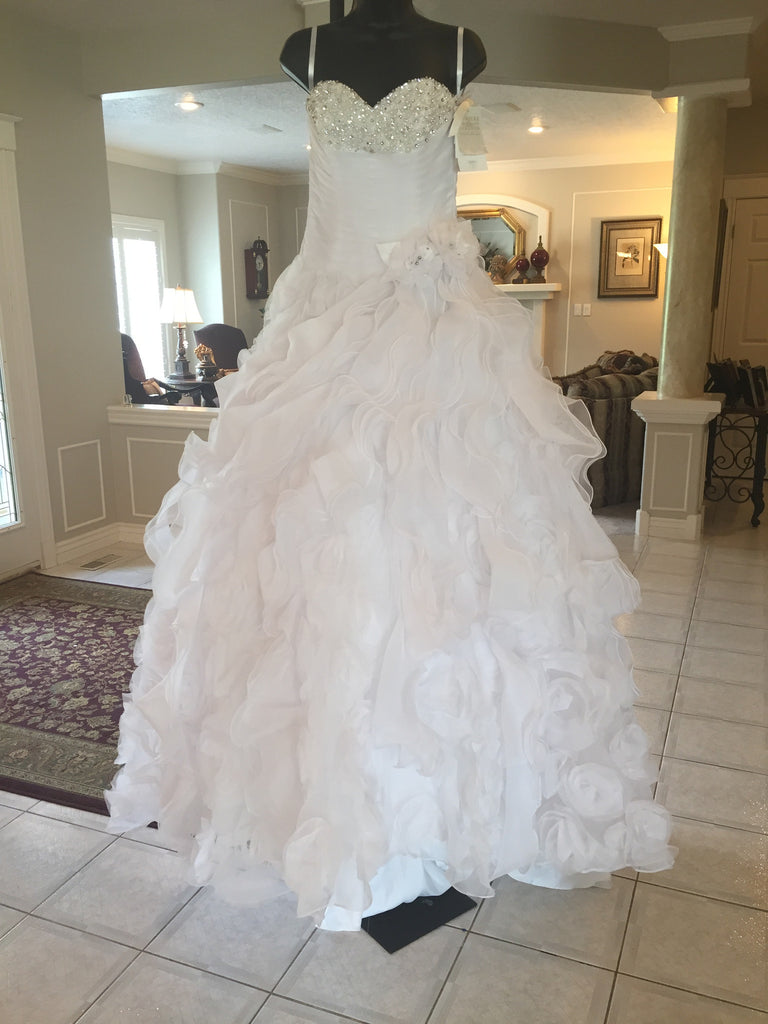 Mori Lee '1965' diamante beading on organza - Mori Lee - Nearly Newlywed Bridal Boutique - 1