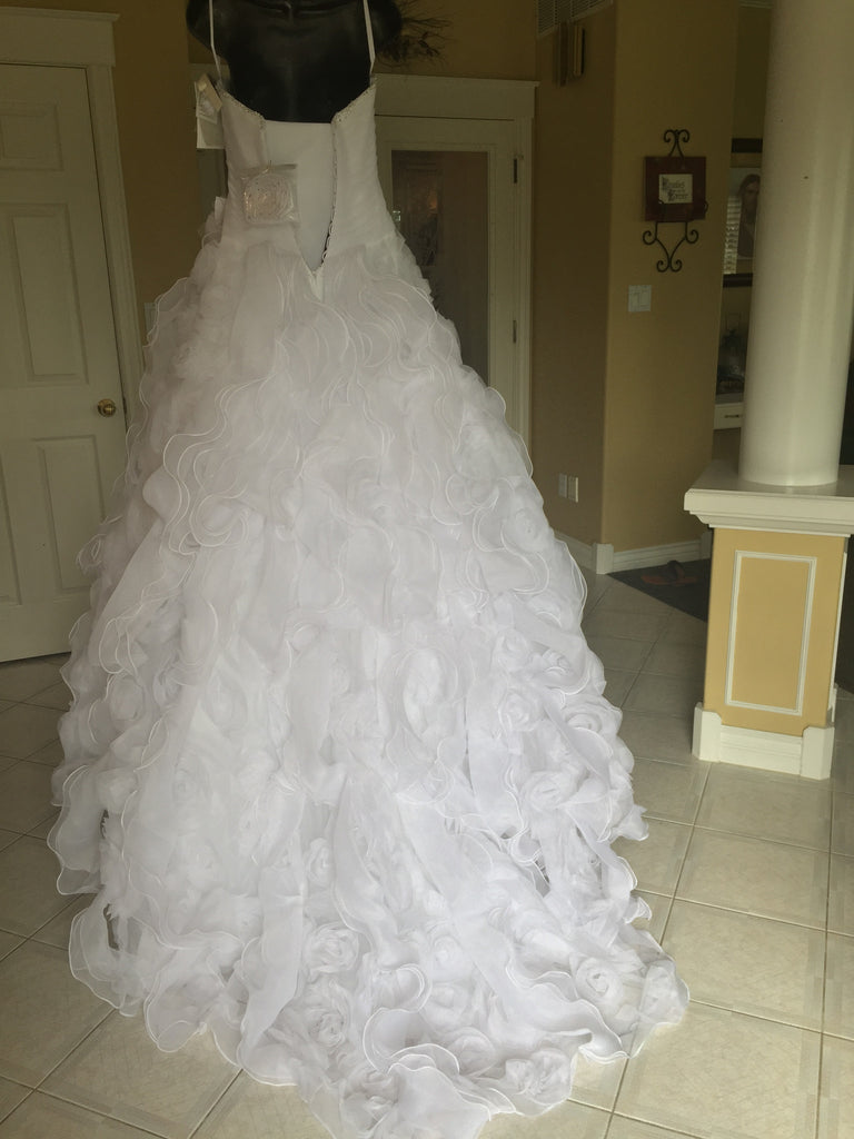 Mori Lee '1965' diamante beading on organza - Mori Lee - Nearly Newlywed Bridal Boutique - 3