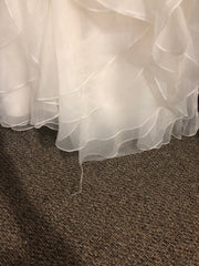 Michelle Roth 'Eda' size 10 used wedding dress view of hem