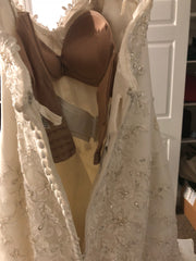 Michelle Roth 'Eda' size 10 used wedding dress back view on hanger