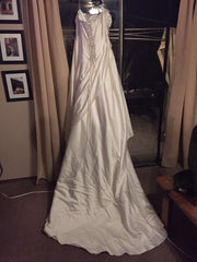 Maggie Sottero 'Jeweled' size 18 used wedding dress back view on hanger
