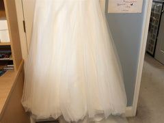 Cosmobella '7693' size 14 sample wedding dress view of hemline